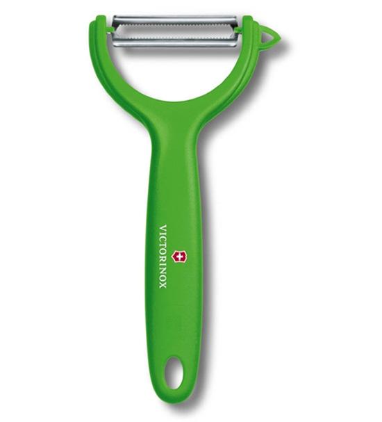 Нож для чистки овощей и томатов Victorinox, модель 7.6079.4 (зеленая)