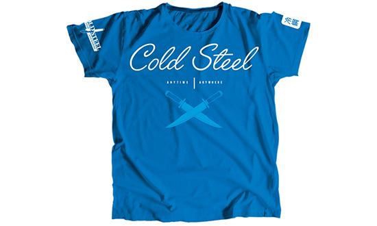 Футболка женская Cold Steel TK3 Cursive Blue Tee Shirt Woman (размер M)