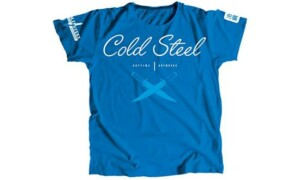 """Футболка женская Cold Steel TK3 Cursive Blue Tee Shirt Woman (размер L) - Интернет магазин """"На острие"""". Официальный дилер Cold Steel. Купить качественные ножи с пожизненной гарантией - это к нам!"""