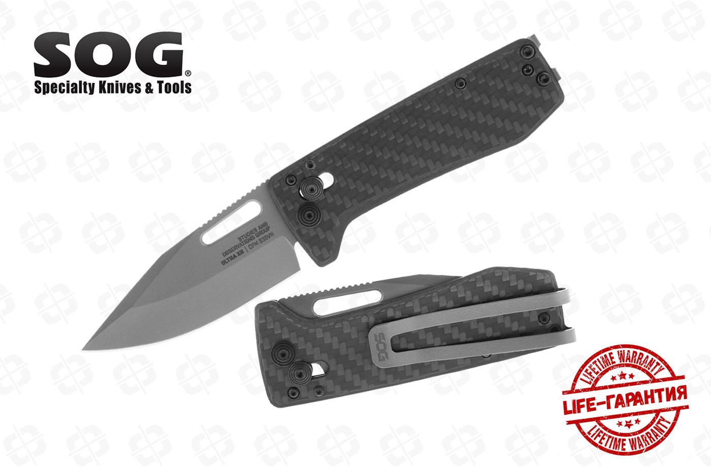 Нож SOG 12-63-01-57 Ultra XR Carbon+Graphite
