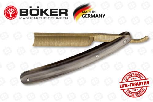 Опасная бритва Boker 140524DAM Damast Gold Horn