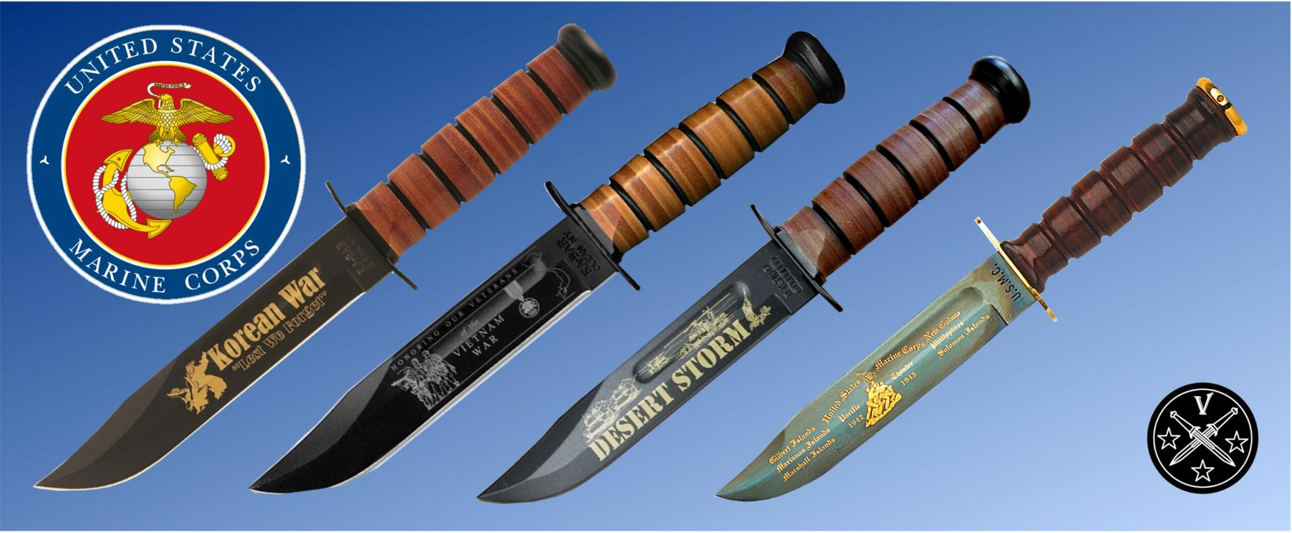 Памятные выпуски боевого ножа морской пехоты США