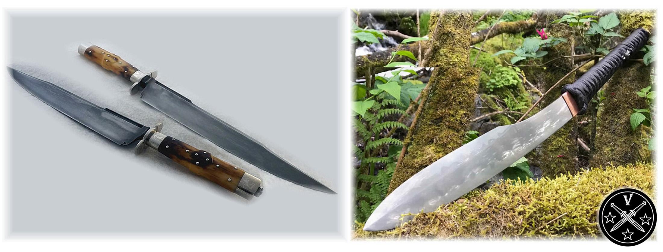 Ножи Мэтта Дискина в стиле Боуи и тяжелый тесак-мачете