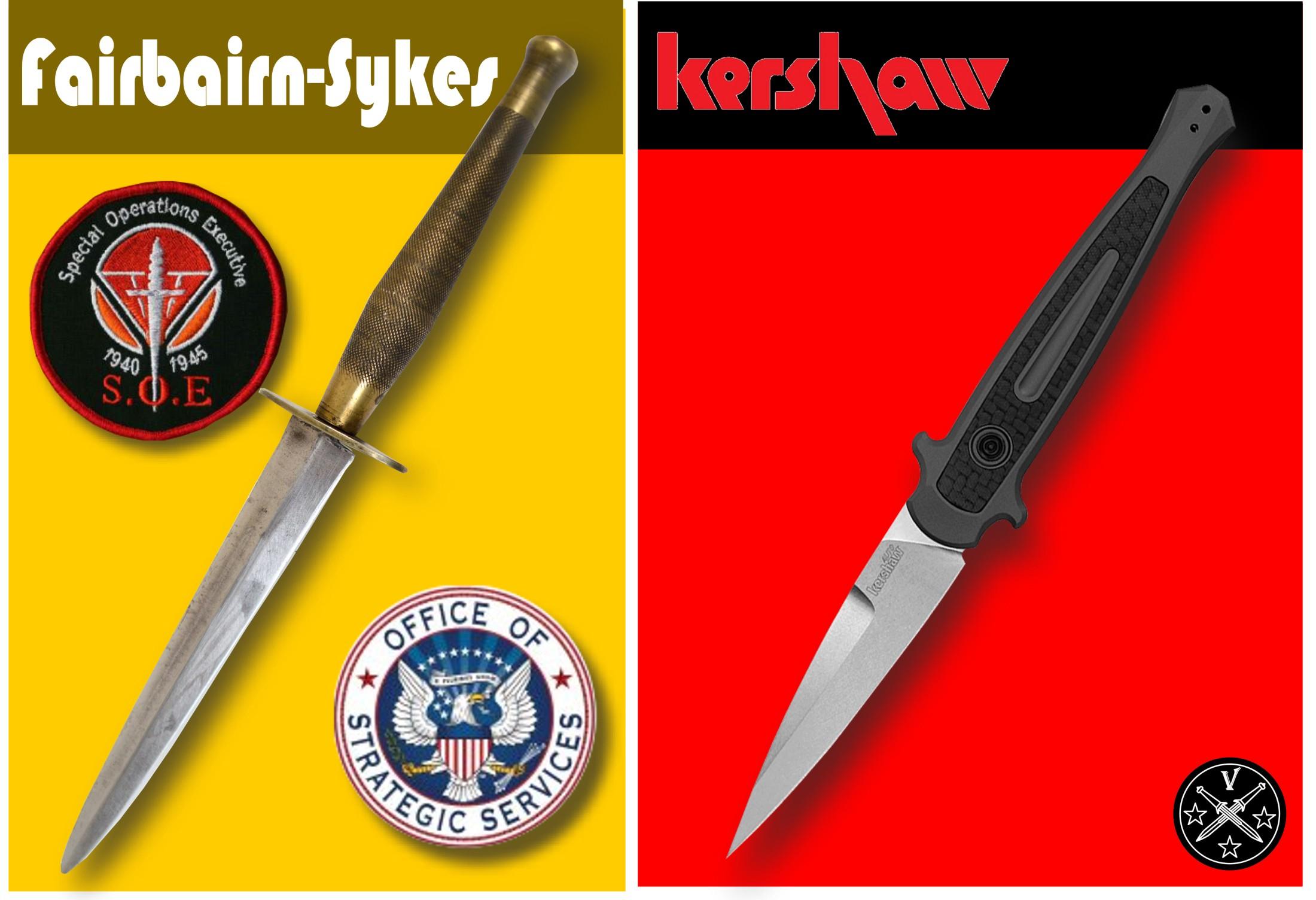 Сравнение Kershaw 7150 и классического стилета