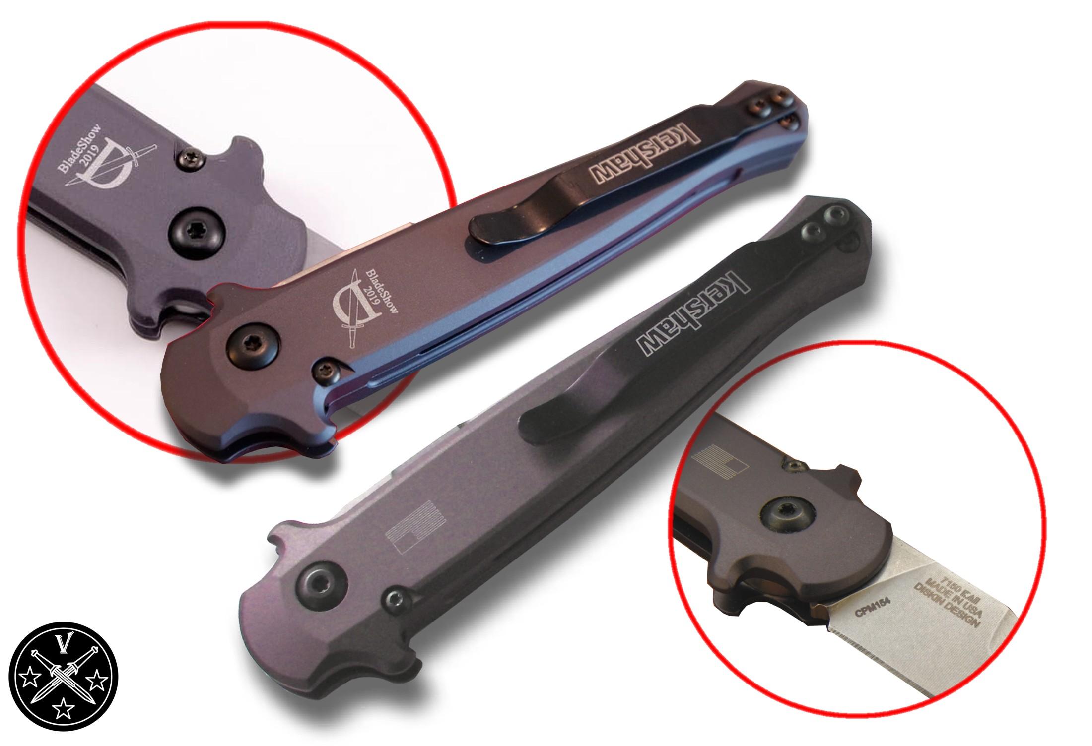 Логотип Blade Show на ноже