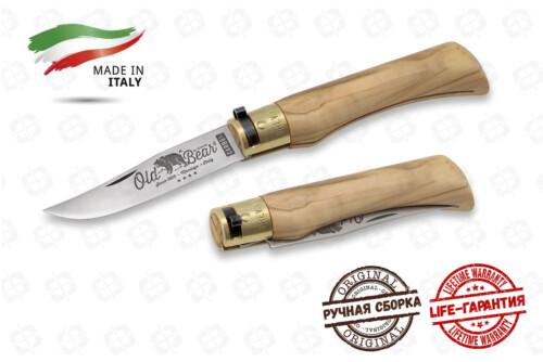 Нож Antonini OldBear 9306/21 LU Olive L