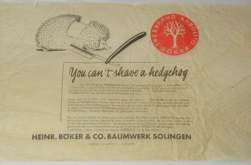 Реклама бритв Boker