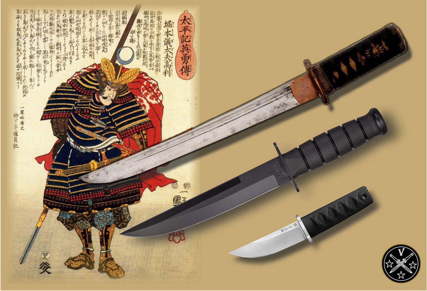 Классический самурайский танто, его современная версия и нож «Kyoto II»